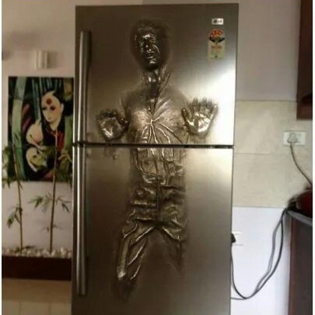 Coolest fridge ever! No pun intended. #starwars #hansolo #iboommedia #jmhhacker #socialmedia