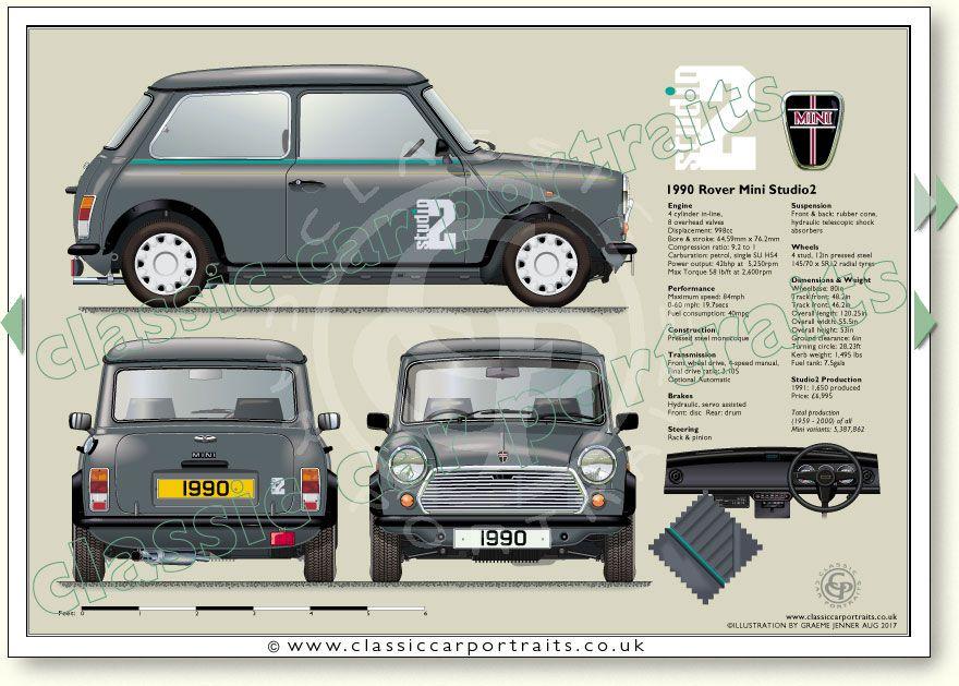 Mini Studio2 Limited Edition 1990 classic car portrait