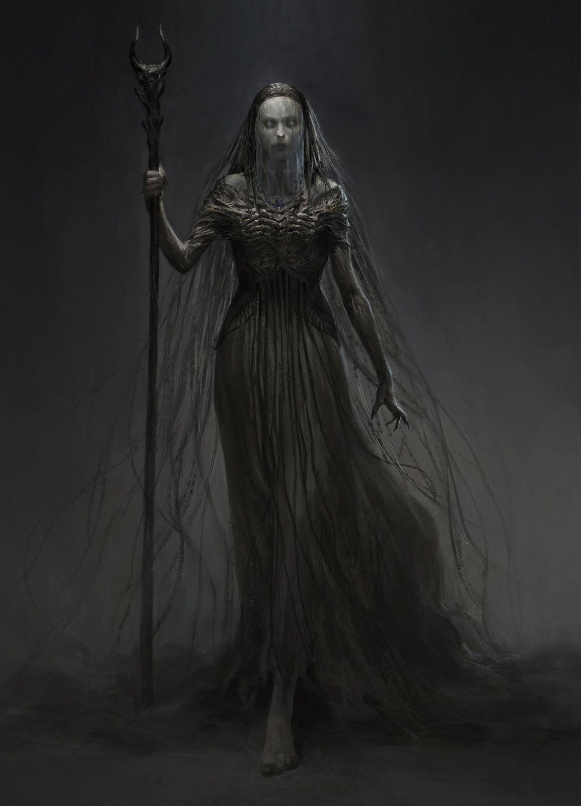 witch, qingkai yang on ArtStation at https://www.artstation.com/artwork/gBgl8
