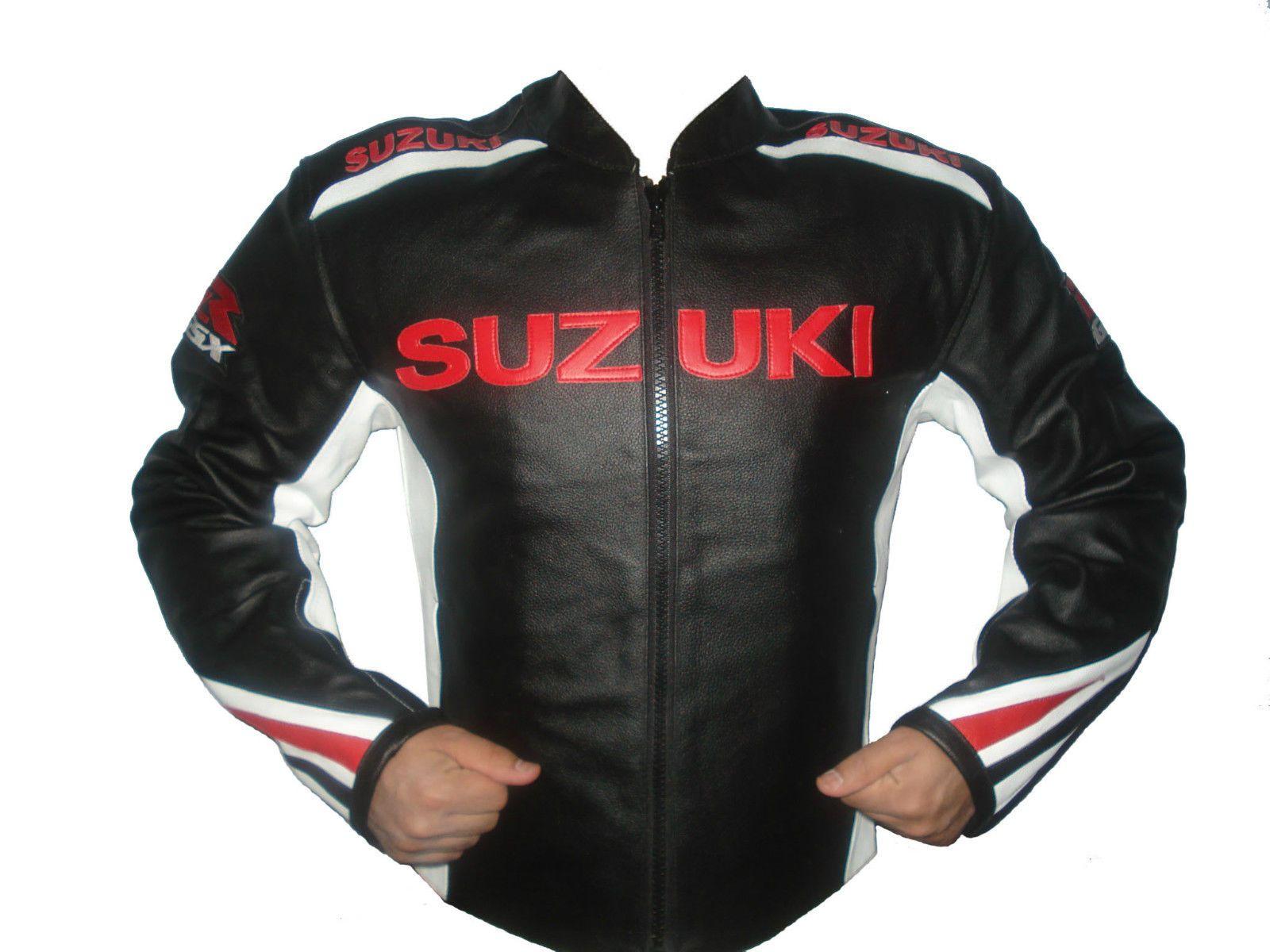 Black Suzuki RGSX Motorcycle Road Racing Red White Striped