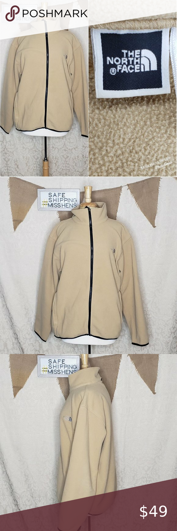 The North Face Mens Tan Full Zip Jacket In 2020 North Face Mens Zip Jackets The North Face [ 1740 x 580 Pixel ]