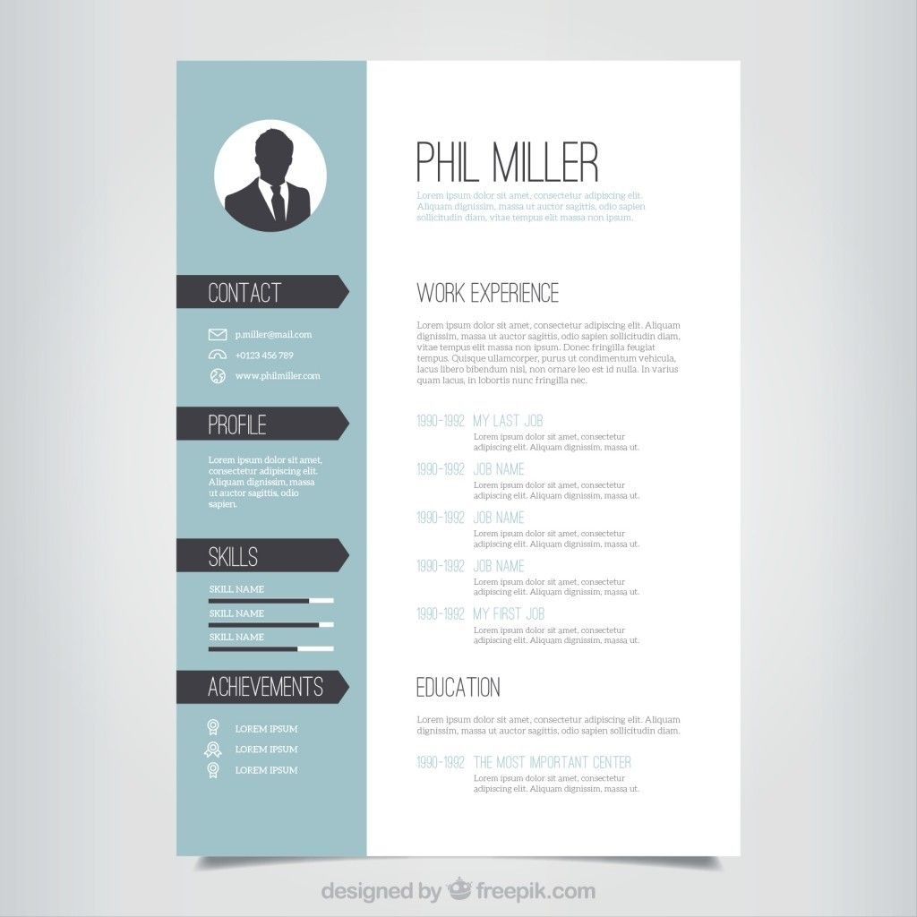 Design in 2020 Cv template free, Resume template free