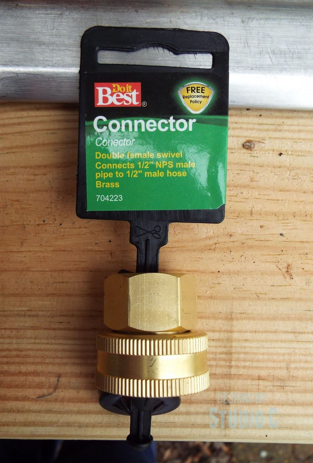 Install Outdoor Sink Faucet Hose Connector