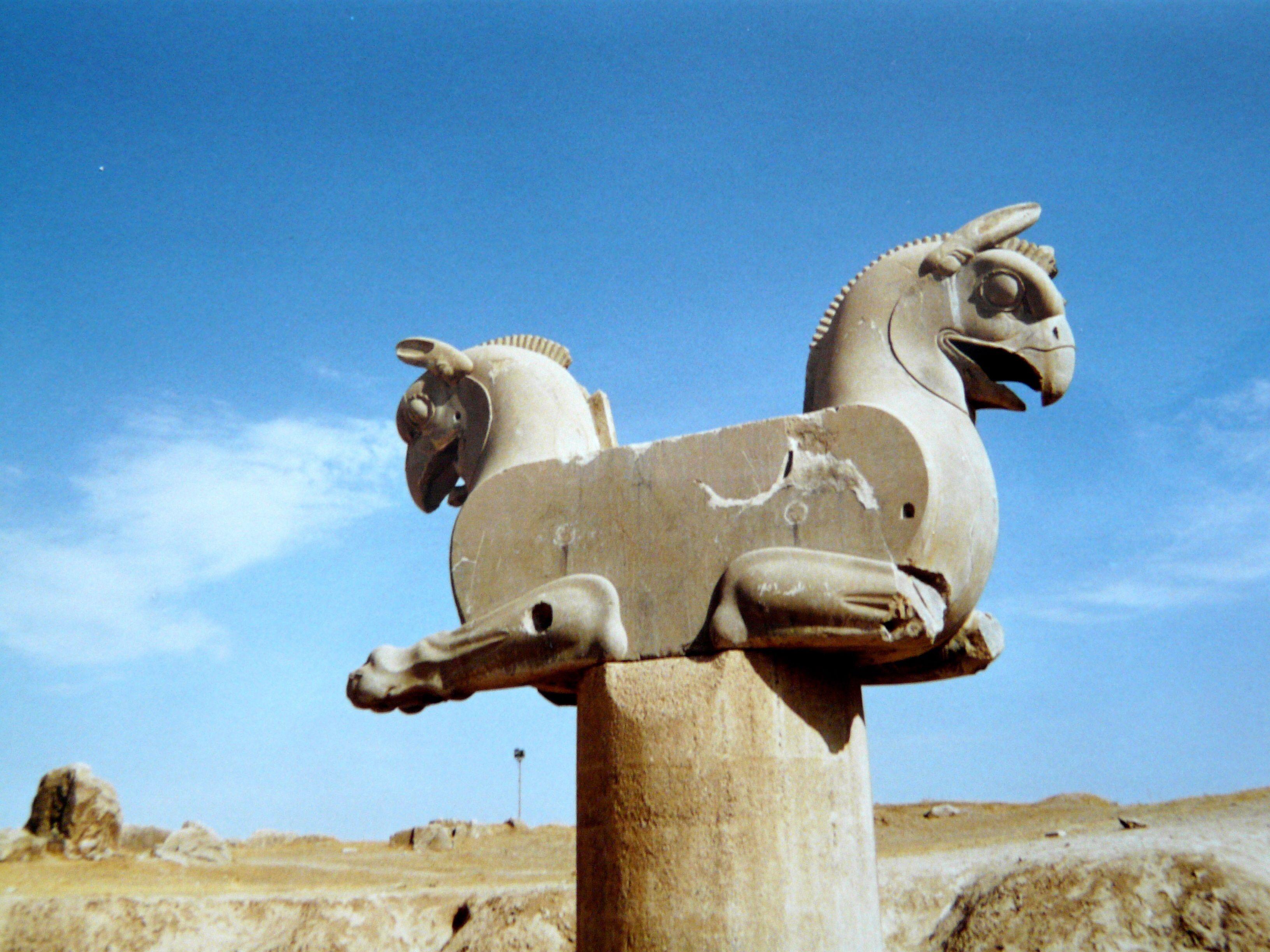 Ruines de Persepolis - Double griffon