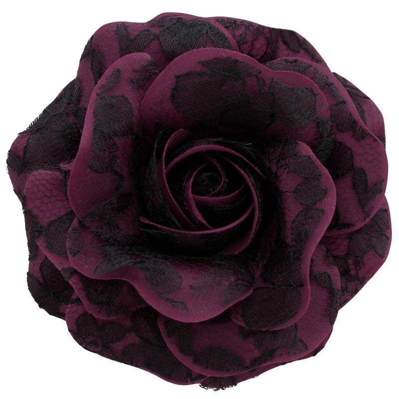 Women's+Black+Lace+Rose+_+Aubergine+[Black+Lace+Rose+_+Aubergine]+-+$19.95+:+Sara+Monica,+Sara+Monica+Flowers
