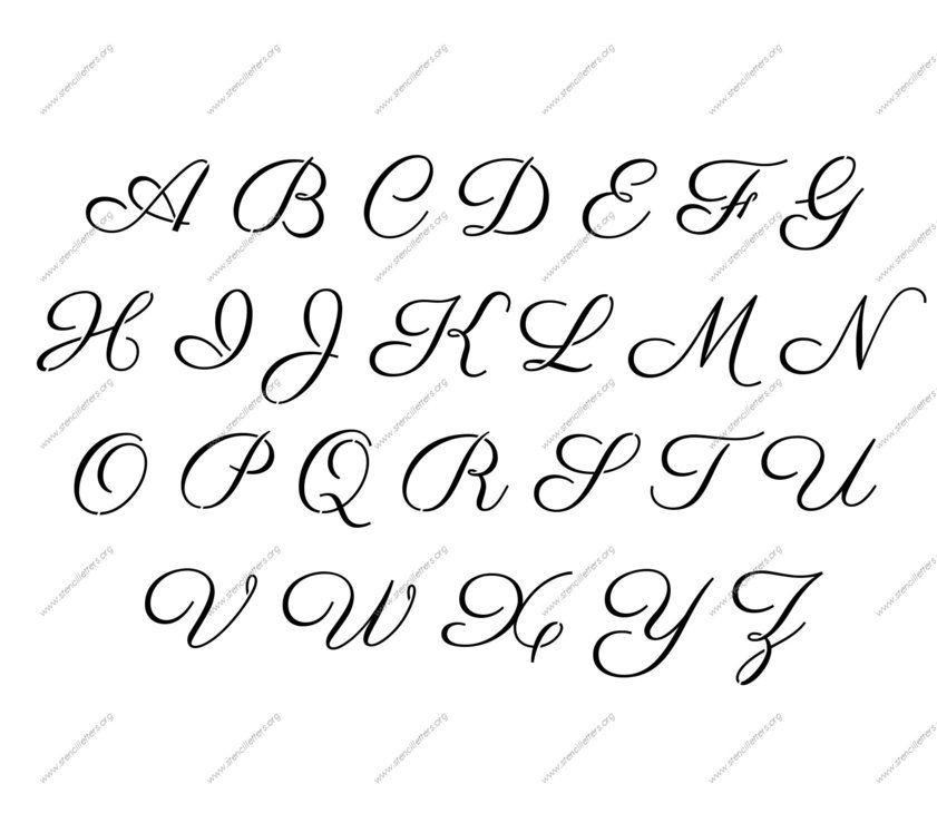 Alphabet Lettering Stencils Pumpkin Pinterest Letter Stencils