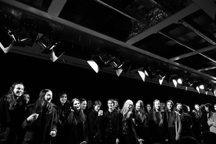 Christopher Kane fall 2014 - behind the scenes