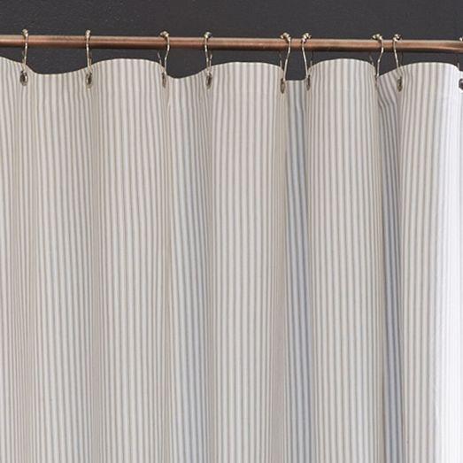 Ticking Stripe Shower Curtain At West Elm Striped Shower