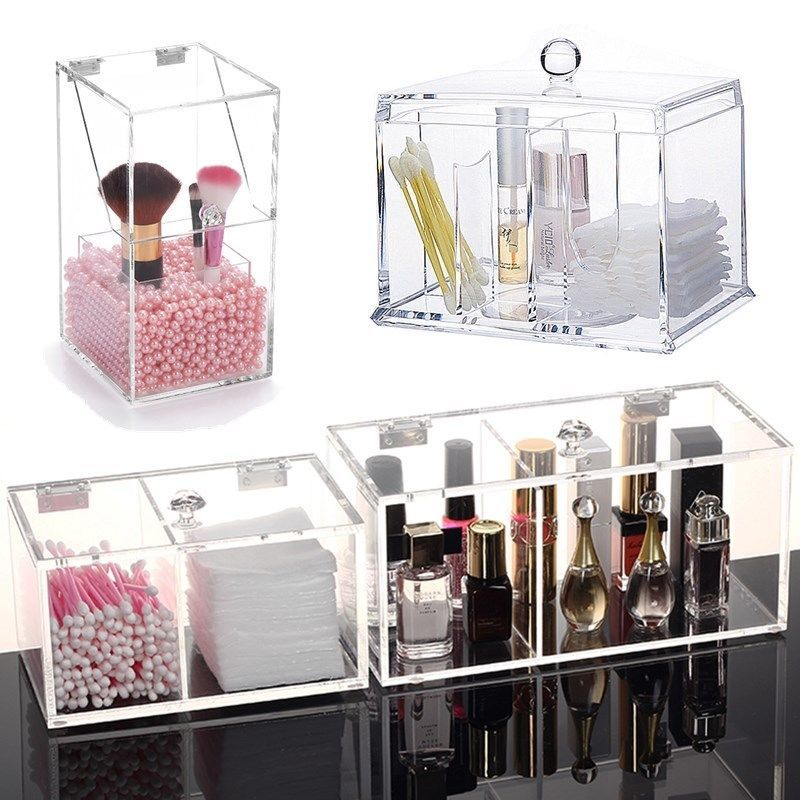 Acrylic Makeup Organizer Case Cosmetic Brush Jewelry Storage Holder