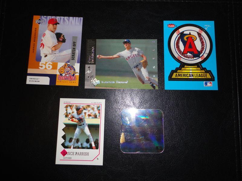 5 anaheim angels california angels baseball cards