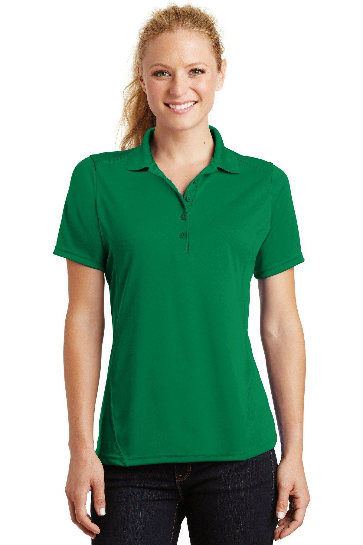 SportTek Ladies Dry Zone Raglan Accent Polo L475 Kelly