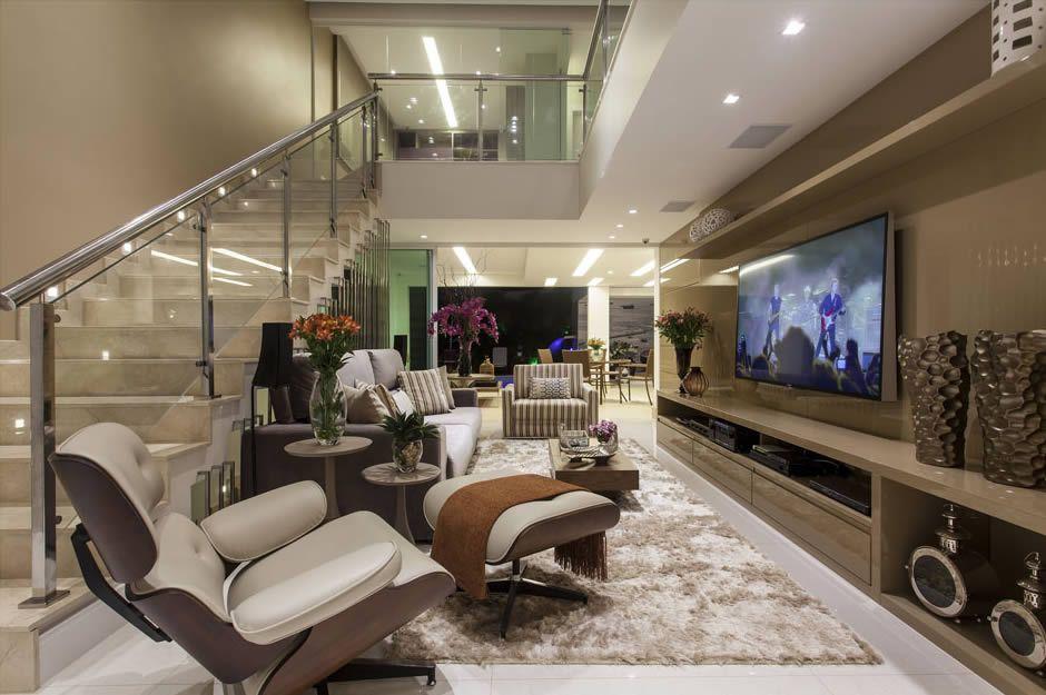 Salas de estar tv e jantar integradas maravilhosas for Sala de estar fendi