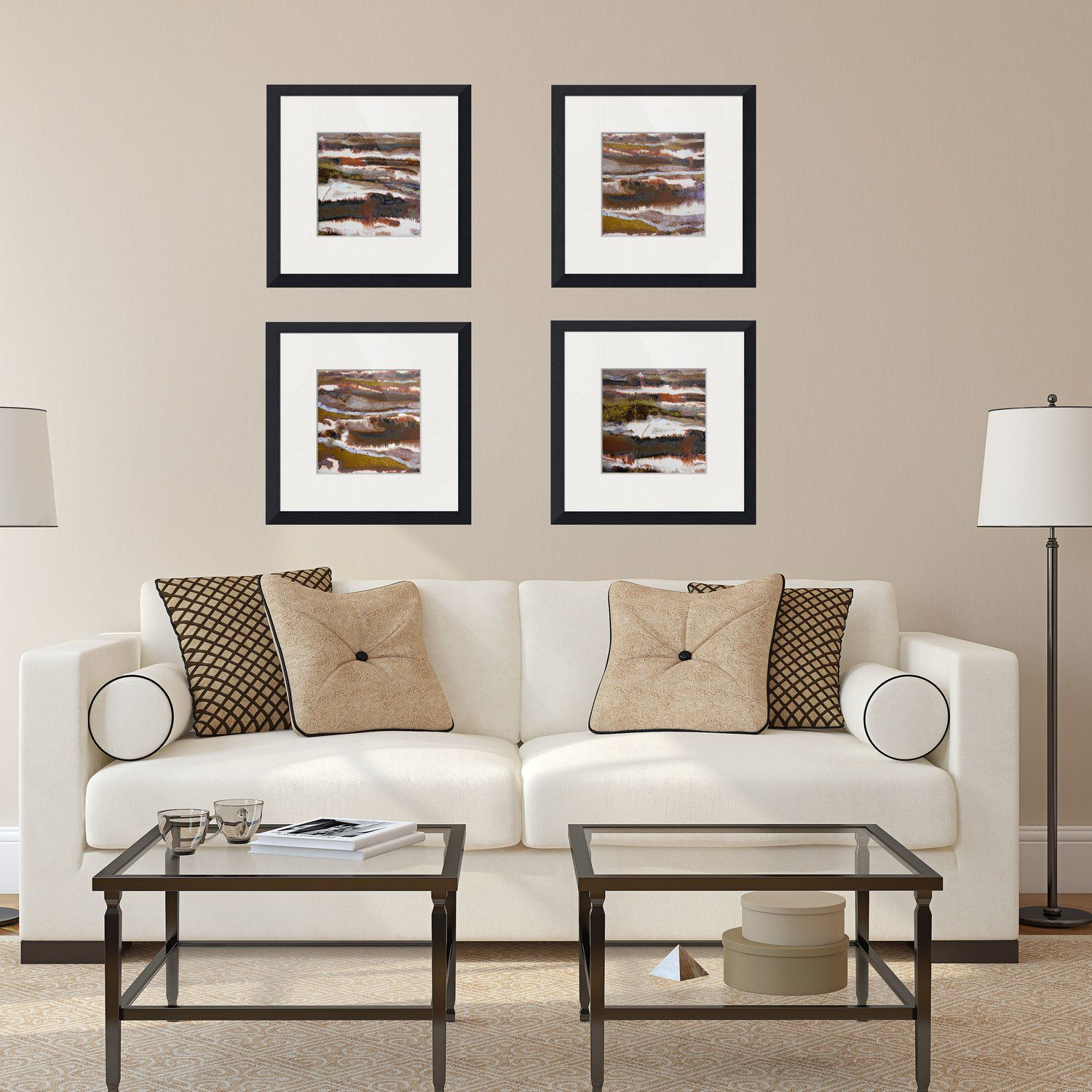 Brown Tan White Metallic And Beige Abstract Framed Prints Set Of Neutral Abstract Wall Art Abstract Artwork Rustic Modern Framed Artwork Modern Fra Casas