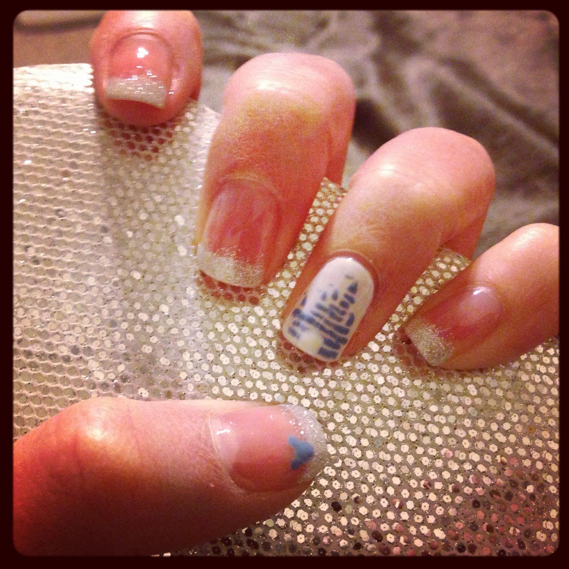 Disney Castle Nails | Nail me by Kiki | Pinterest