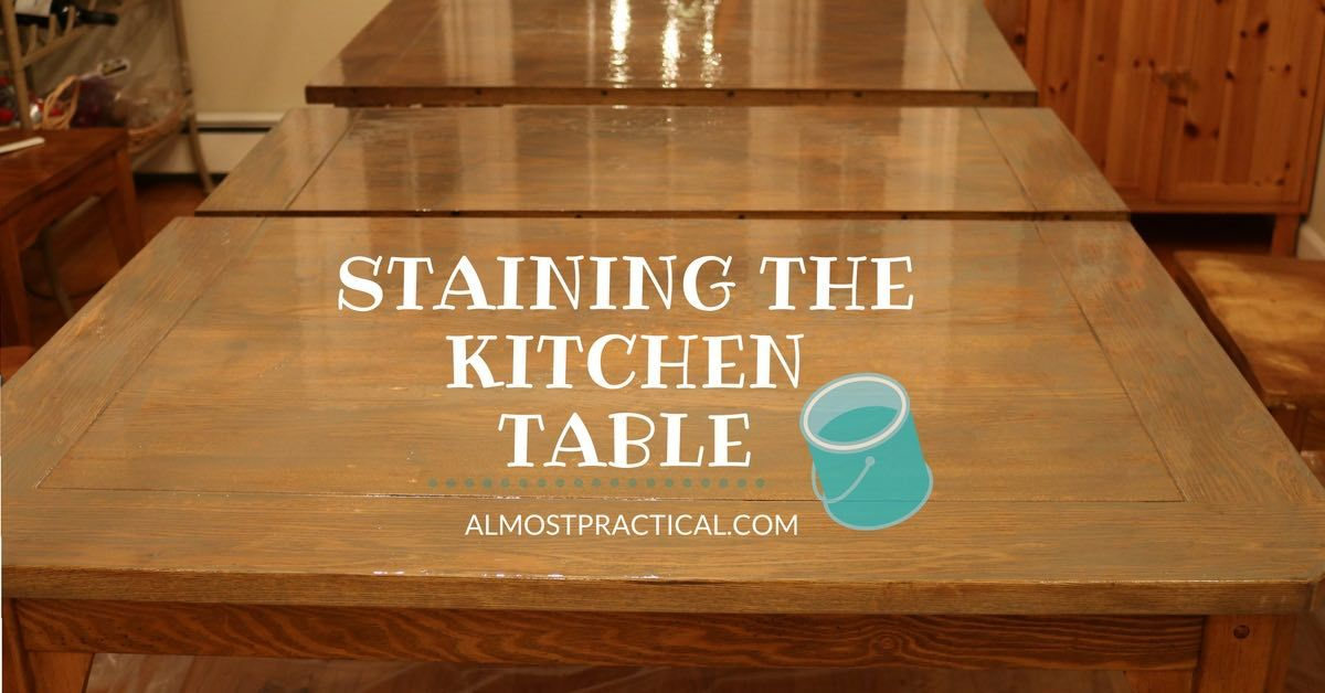 how to stain a wood veneer kitchen table top  a