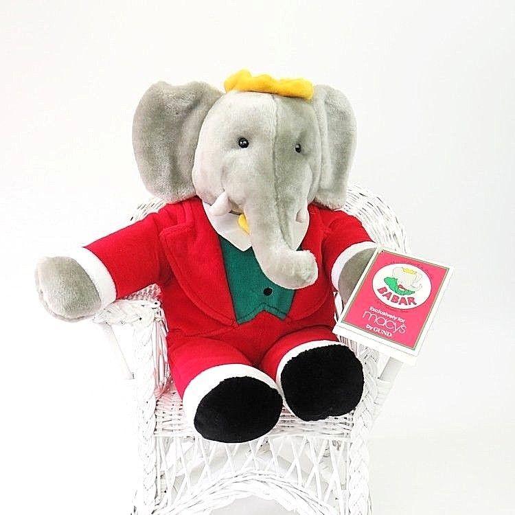 New Gund For Macy S Babar Plush Stuffed Christmas Elephant Animal