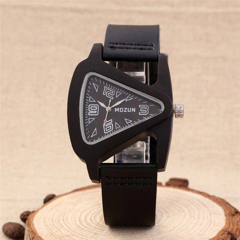 2016 sandalwood wood watch men luxury watches mozun quartz