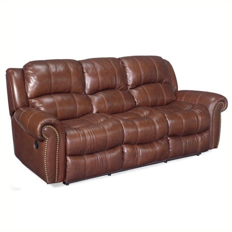 Hooker Furniture Seven Seas Leather Sofa Set In Cognac | Leather