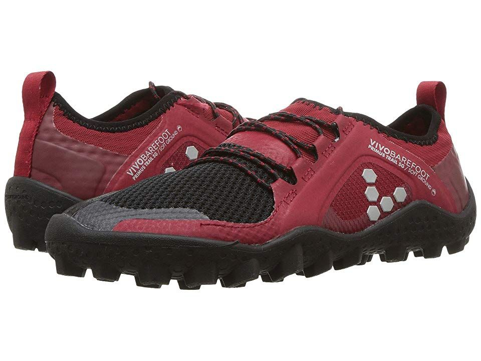 3a6ff54fccf Vivobarefoot Primus Trail Soft Ground Women s Shoes Black Red Mesh ...