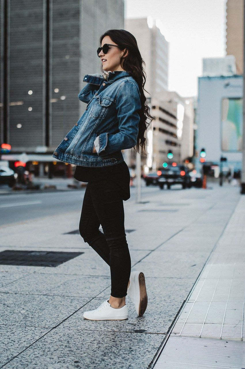 How To Style White Sneakers This Fall | Denim fashion ...