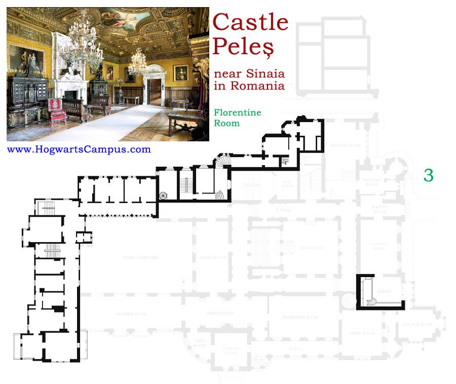 Peles Castle Floor Plan 3rd Floor Architectural Floor