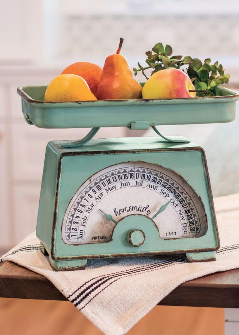 Retro Kitchen Scale With Dates Mint Green Kitchen Primitive