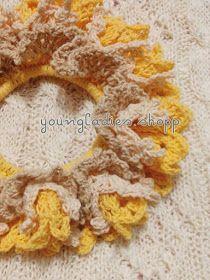 youngladieshome: Crochet Scrunchies 4 #crochetscrunchies