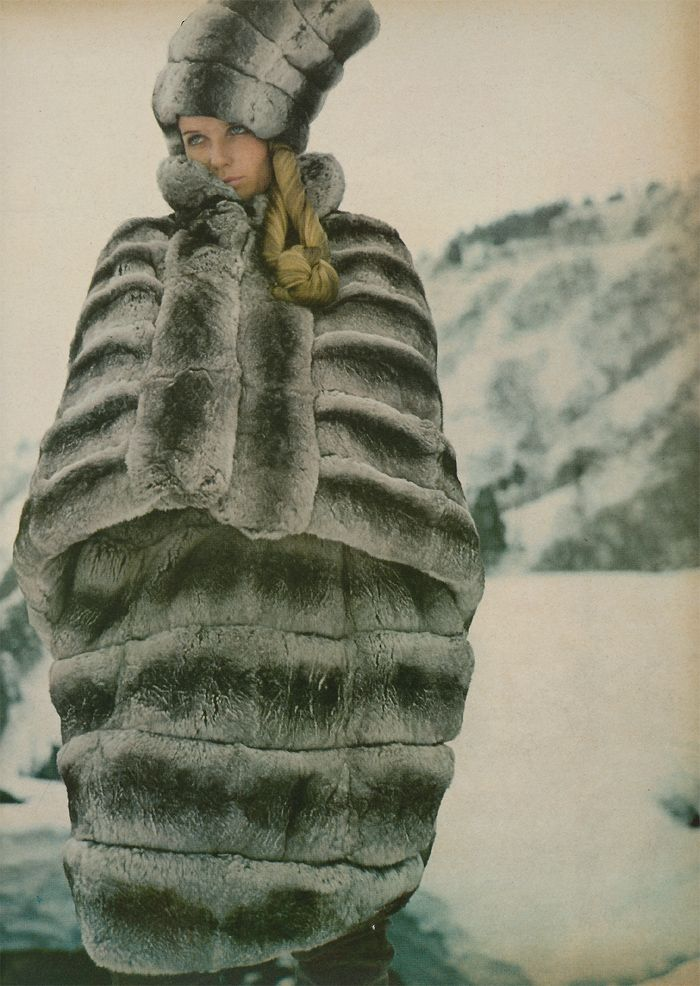The Girl in the Fabulous Furs  Veruschka by Richard Avedon  Editor: Diana Vreeland  Location: Japan   American Vogue October 15th 1966