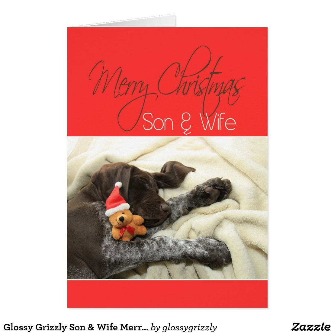 Glossy grizzly son wife merry christmas card stuff sold on glossy grizzly son wife merry christmas card m4hsunfo