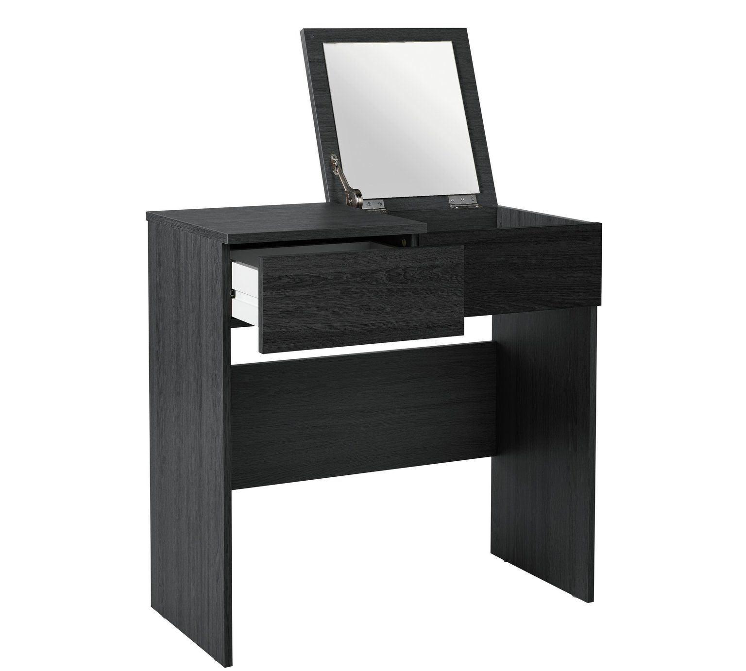 Dressing table with mirror buy home malibu dressing table with mirror  black oak effect at
