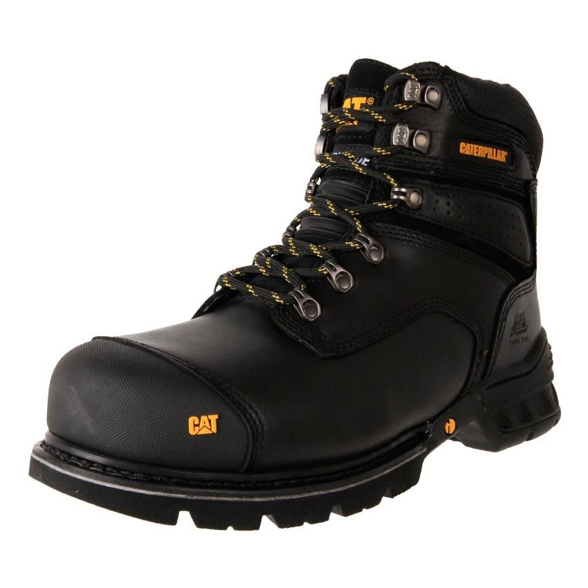 85e374bd1f13e Buy Men's BLACK Caterpillar Brakeman Steel Toe zip up work safety Boots  online.