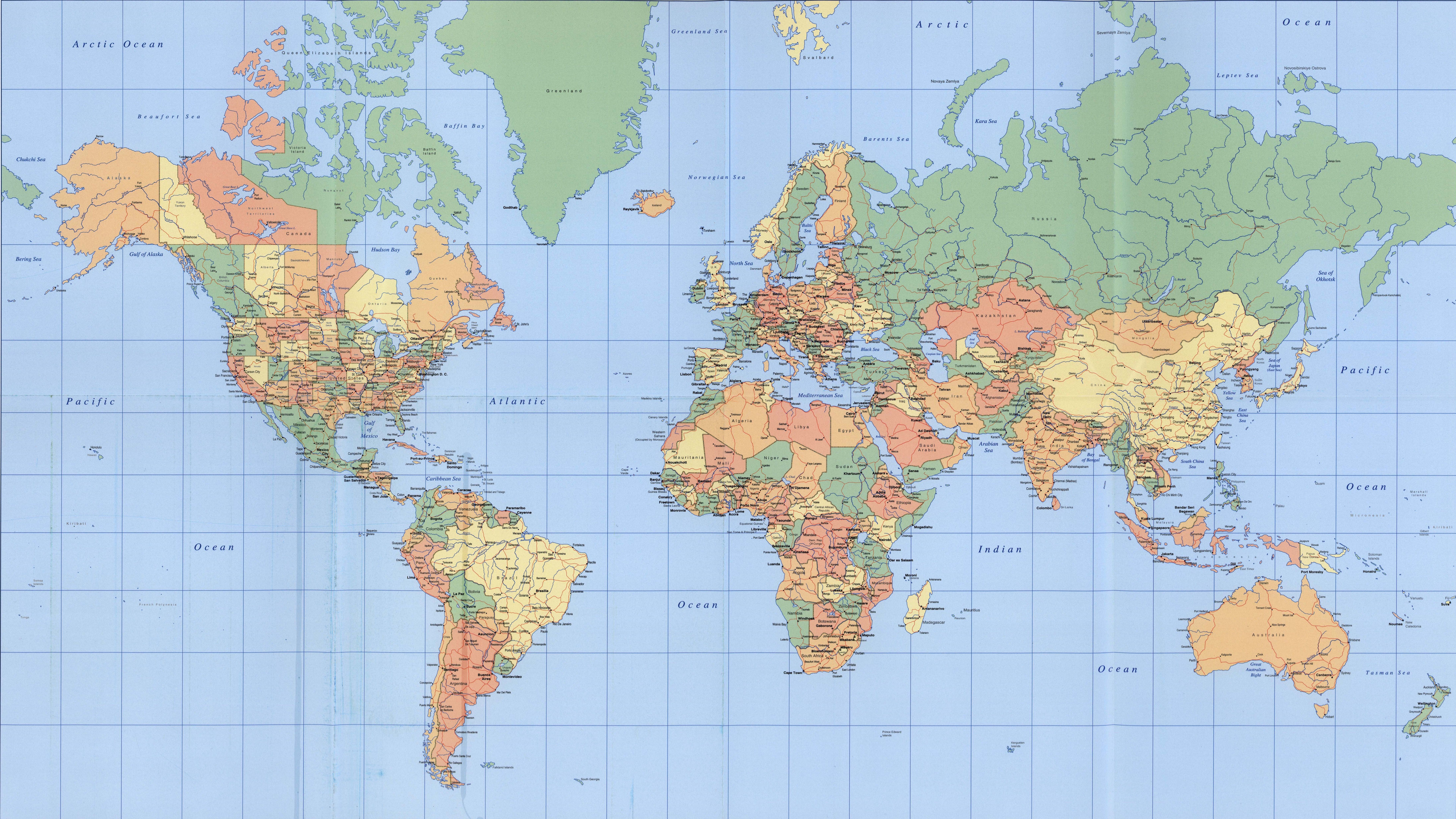 Pin by Mhammed Qerdachi on World World map, Colorful map