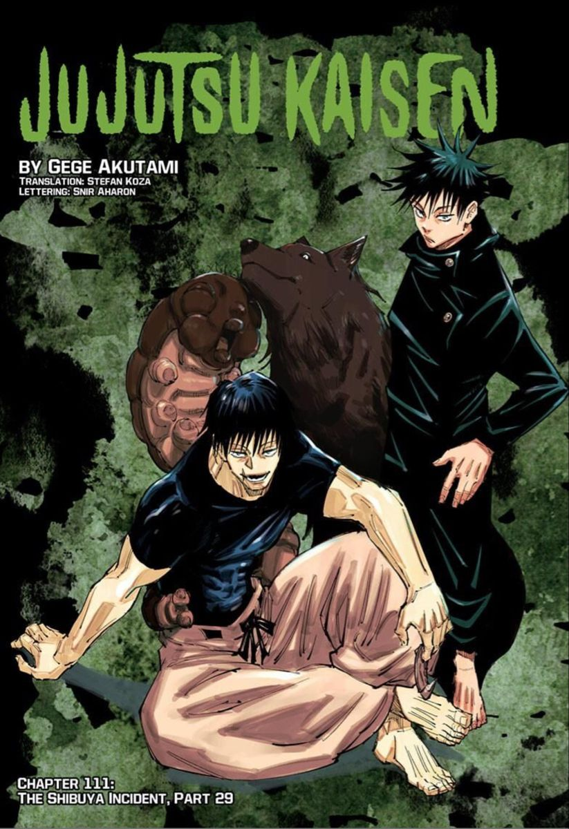 Jujustsu Kaisen Chapter 111 Megumi Fushiguro Toji Fushiguro Jujutsu Manga Covers Anime Wall Art
