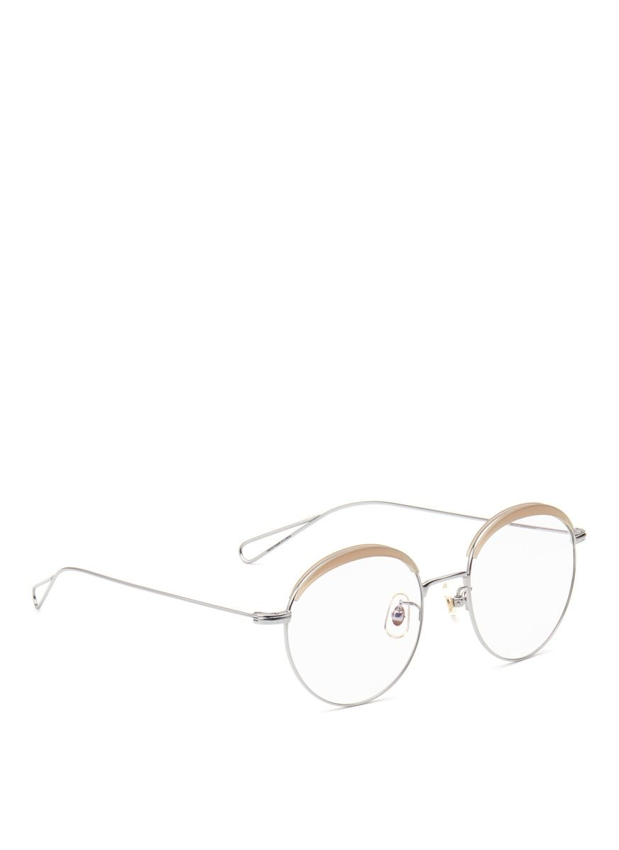 13df9b3cf33a Stephane + Christian -  milli 04  Acetate Browline Metal Wire Optical  Glasses