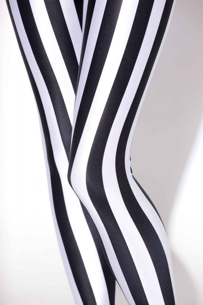 Fashion sell black and white vertical striped printed y legging for ladies disco pants jeans lycra spandex leggings alternative measures pinterest