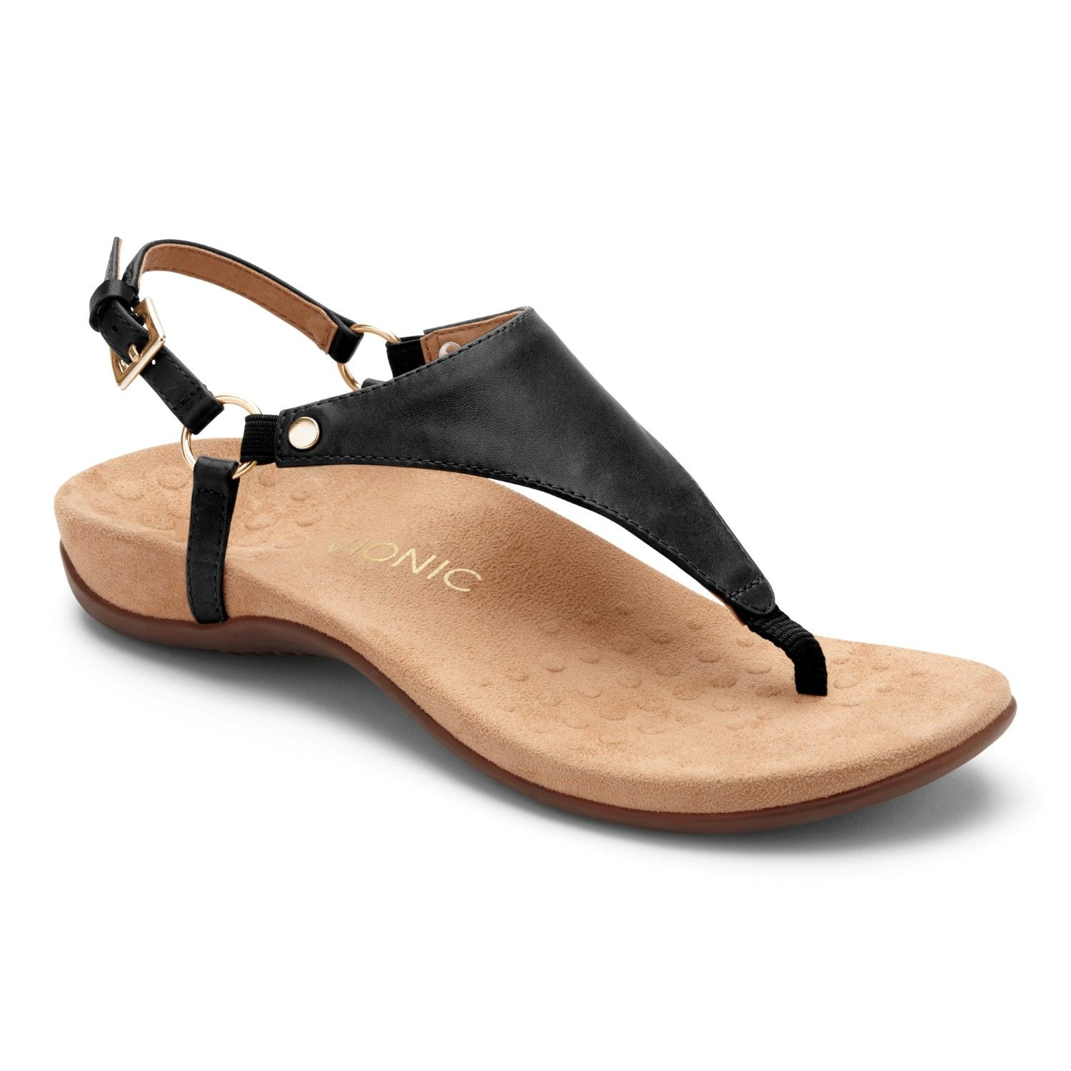 b02fa397f Vionic Rest Kirra - Women's Supportive Sandals Black - 5 Medium in ...