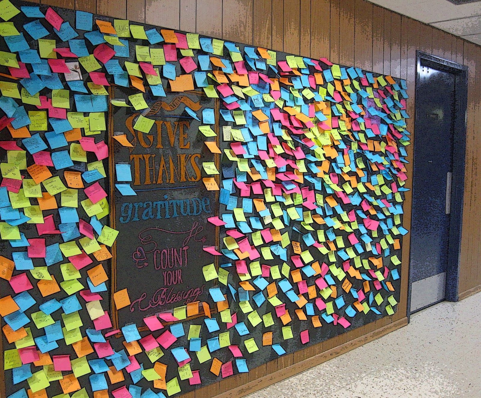 School Gratitude Wall Prayer wall, Art bulletin boards