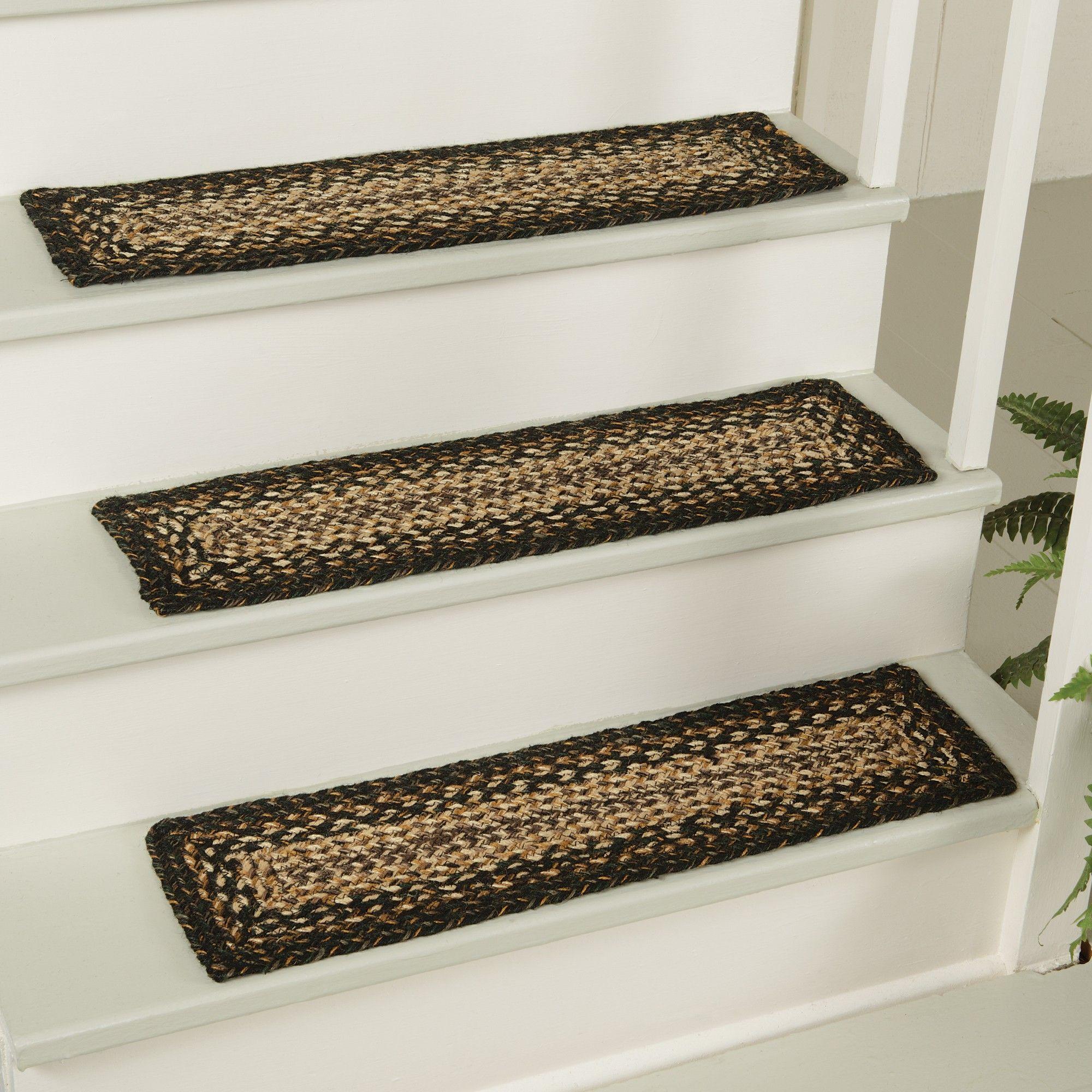 Best Jute Braided Stair Tread Stair Treads Stair Tread Rugs 400 x 300