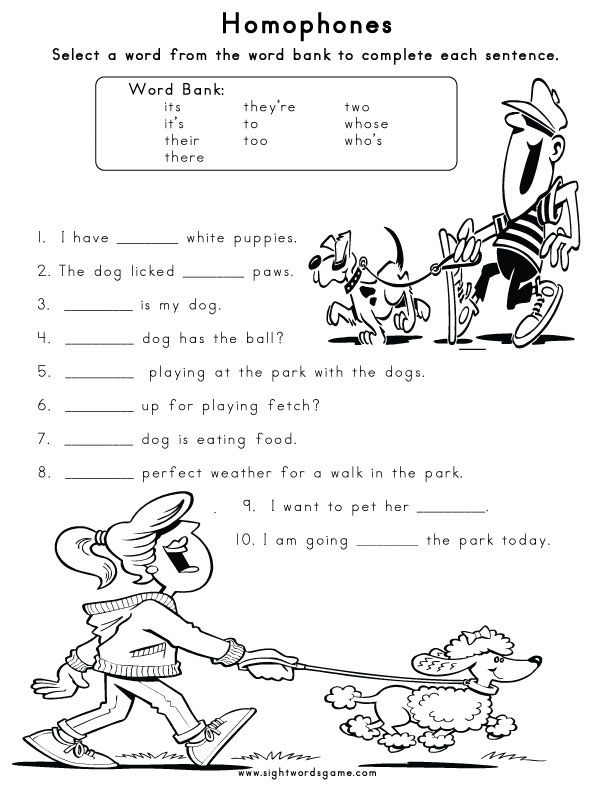 Homophone Worksheet 1 Homophones Pinterest Worksheets