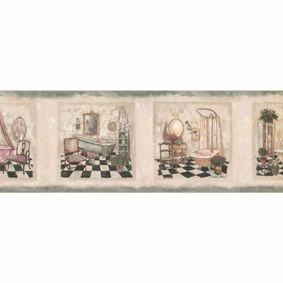 "Winston Porter Huldah Bathroom 15' L x 7"" W Wallpaper"