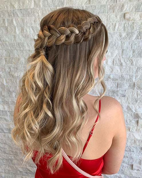 63 Stunning Prom Hair Ideas for 2020   Braids with curls ...