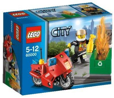 LEGO City 60000 FIRE Motorcycle Set New In Box Sealed