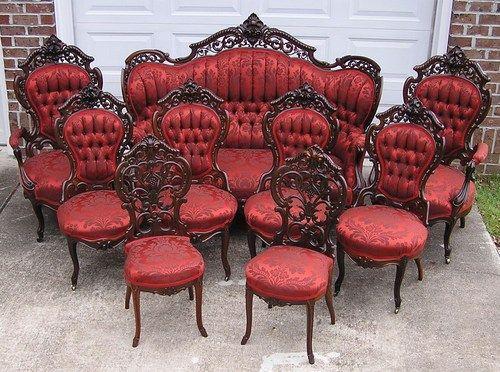 prestigious victorian rococo rosewood meeks stanton hall parlor set ebay victorian style