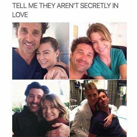 Ellen Pompeo And Patrick Dempsey Greys Anatomy Greys Anatomy