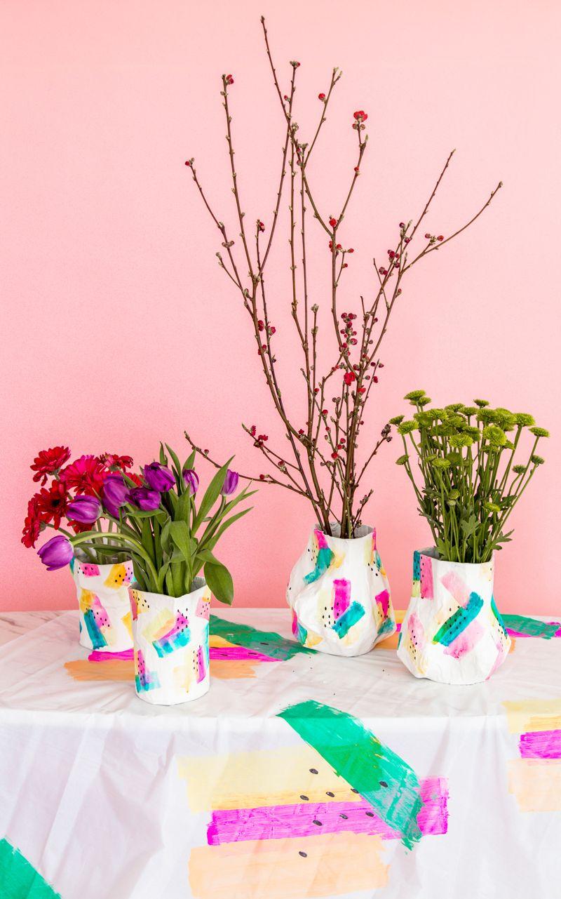 Paper Mache Diy Flower Vase Flower Vase Diy Paper Mache Diy