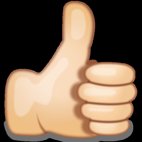 Thumbs Up Hand Sign Emoji Grande Png 600 600 Gambar Simpel Gambar Gambar Lucu