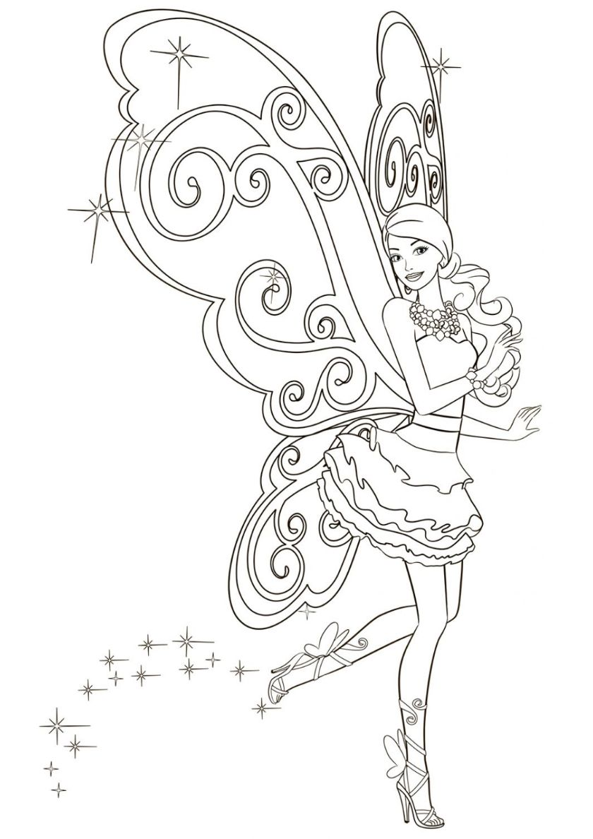 Dance Of Fairy High Quality Free Coloring From The Category Barbie More Printable Picture Mermaid Coloring Pages Barbie Coloring Pages Fairy Coloring Pages