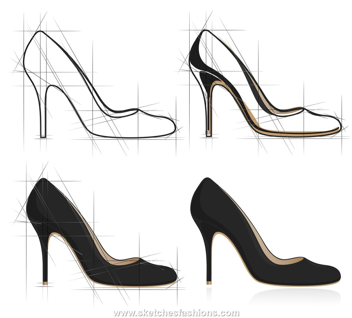 high heel shoe design sketch shoe pinterest sketches