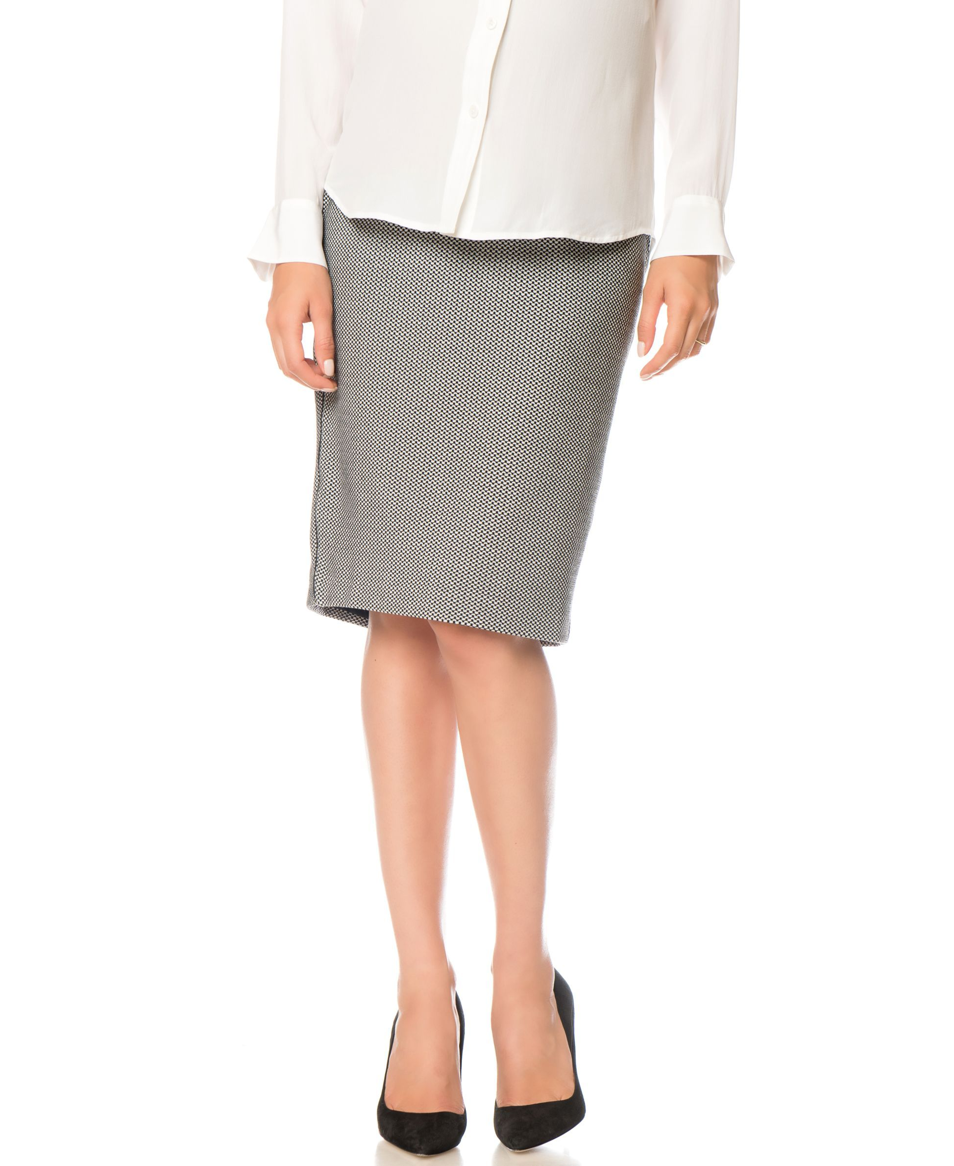 134d9601ac A Pea In The Pod Maternity Houndstooth Pencil Skirt