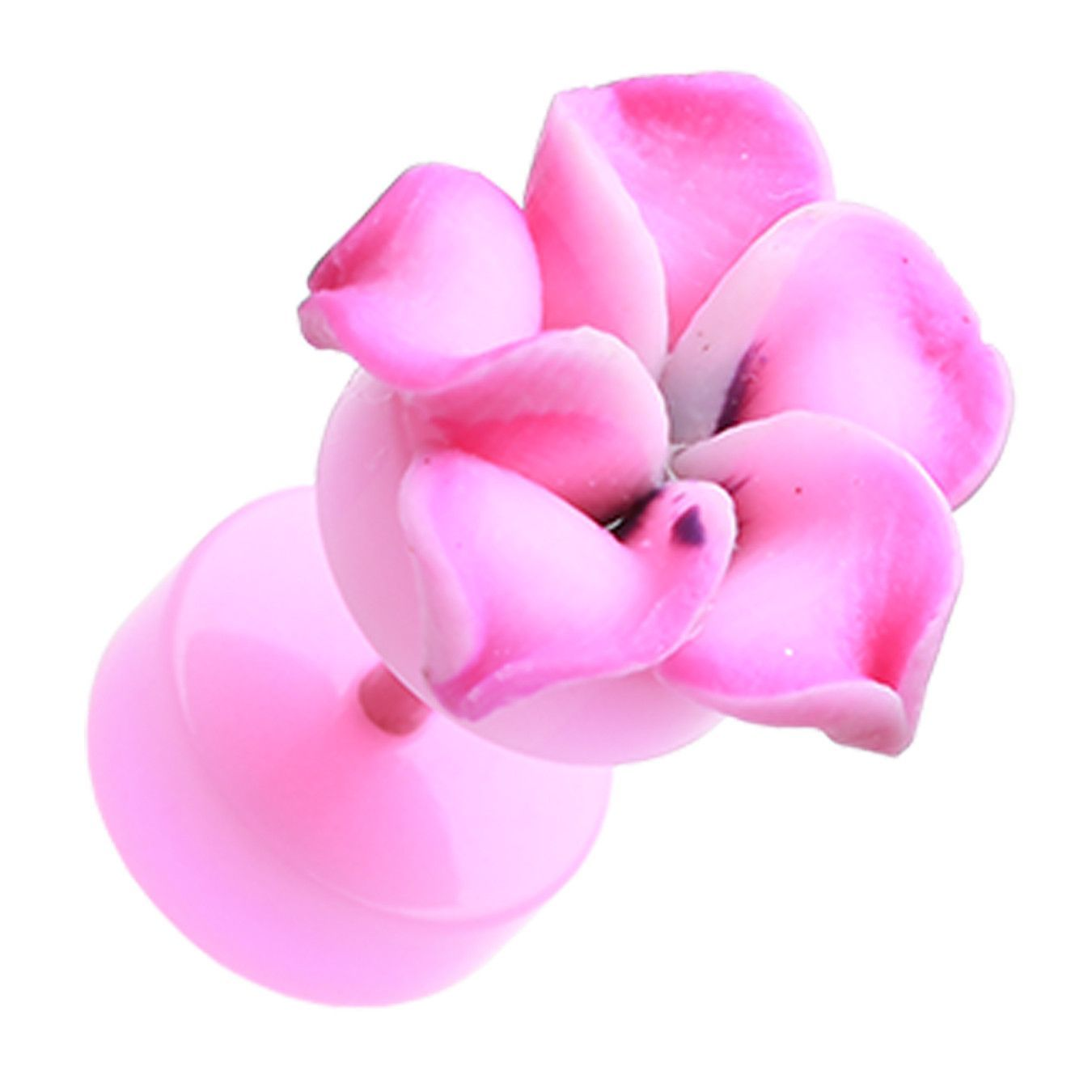 Hawaiian plumeria flower acrylic fake plug fake plugs and products hawaiian plumeria flower acrylic fake plug izmirmasajfo
